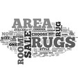 Area rugs for sale text word cloud concept