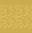 Bakery golden pattern vector image vector image