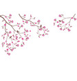 beautiful tree branch with birds silhouette vector image vector image