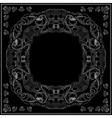 Black and white marine bandana square pattern vector image