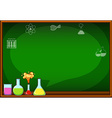 Blackboard with flasks and chemical vector image