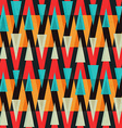 bright triangle geometric seamless pattern vector image