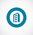 building icon bold blue circle border vector image vector image