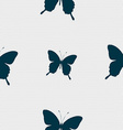 butterfly icon sign Seamless pattern with vector image