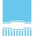 Card invitation blue vector image