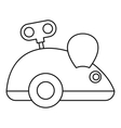 Clockwork mouse icon outline style vector image vector image