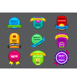 collection of color labels on gray background vector image vector image