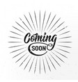 coming soon sign isolated on white background with vector image