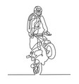 continuous one line drawing of a sportsman on a vector image vector image