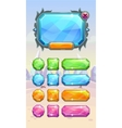 Crystal game user interface assets vector image vector image