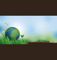 earth on grass with copy space vector image