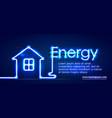 eco energy saving light led bulb glowing compact vector image vector image