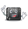finger f10 button installed on cartoon computer vector image