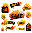 fire sale vector image vector image
