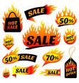fire sale vector image
