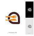 food talk logo concept designs food discuss logo vector image vector image