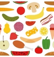 foods seamless pattern vector image