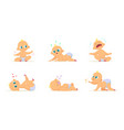 funny characters set of babies in different poses vector image vector image