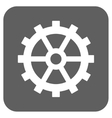 Gear Flat Squared Icon vector image