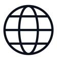 globe icon isolated on white background globe vector image