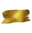 gold texture paint stain vector image vector image