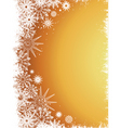 golden snowflakes vector image