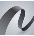 Gray fabric curved ribbon on grey background vector image vector image
