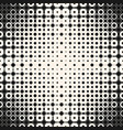 halftone seamless pattern with circles squares vector image vector image