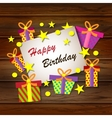 Happy Birthday Greeting Card colorful vector image vector image
