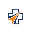 health solution logo design template vector image vector image