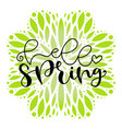 hello spring typography icon lettering for social vector image
