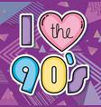 i love 90s cartoons vector image vector image