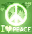 I love peace vector image