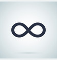 infinity - icon endless symbol vector image