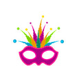 isolated carnival mask image vector image