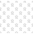 kettle barbecue pattern seamless vector image vector image
