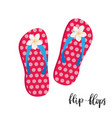 life is better in flip flops vector image vector image