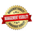 management visibility round isolated gold badge vector image vector image