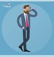 men mobile speaking vector image vector image