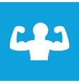 Muscular person icon simple vector image
