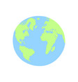 planet earth hand drawing in flat trendy style vector image