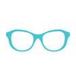 princess party glasses blue vector image