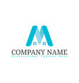 real estate initial letter m logo design template vector image vector image