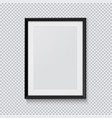 realistic black photo frame isolated on vector image vector image