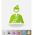 realistic design element stomatologist vector image vector image