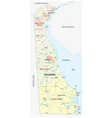 road and administrative map delaware vector image vector image