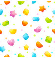 seamless pattern with funny cartoon jelly candies vector image vector image