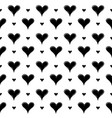 seamless pattern with hand draw hearts vector image vector image