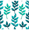 seamless pattern with turquoise and green tropical vector image vector image