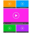 set 5 simple abstract icons video player vector image